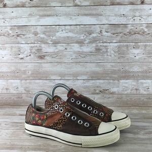 Converse All Star Slip On Womens 6.5 Brown Floral